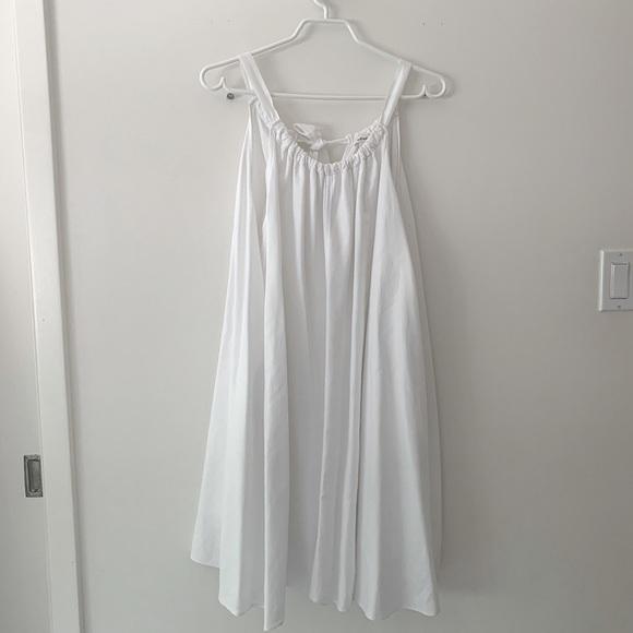 Artizia Wilfred white linen dress
